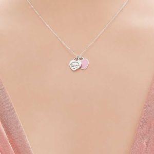 RETURN TO TIFFANY® Mini Double Heart Tag Pendant